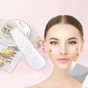 2019 New USB Rechargeable Ultrasons Épurateur pour la peau du visage Nettoyant pour le visage Peeling Vibration Enlèvement des points noirs Outils de nettoyage des pores exfoliants
