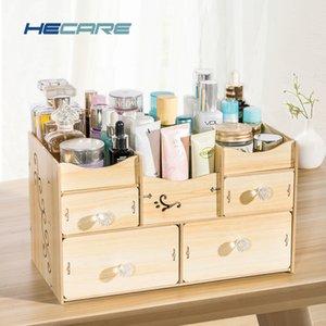 Hécate Banho Organizador de madeira Organizador De Batom Organizador para Cosmetic Banho conjunto de acessórios de armazenamento Organização New SH190919