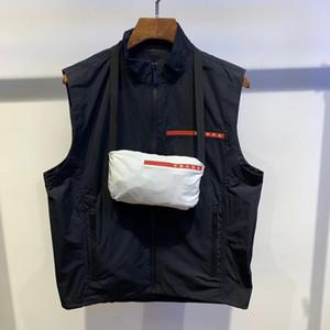 20SS de lujo de lujo de París sin mangas plegable cazadoras ocasional de moda hombre y mujer de la chaqueta del envío gratis