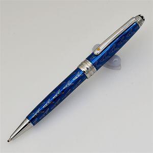 New Luxury blu scuro / rosso Petit Prince metallo penna a sfera Roller / penne di design Penna a sfera scrittura scorrevole con MB penna di marca Numero di serie