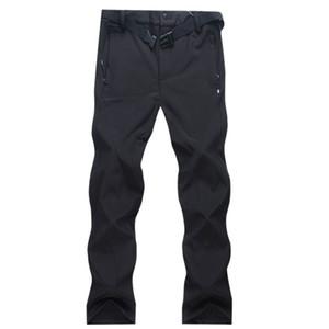 2017 novo inverno homens quentes Caminhadas Pants ao ar livre Softshell Calças Impermeável Windproof Thermal Camping Esqui Escalada Calças