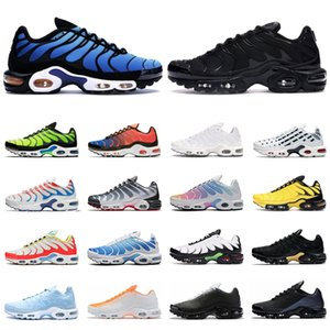 nike tn air max plus SE hombre zapatos para correr triple negro blanco rojo Gafas 3D Hyper blue Spray paint mens trainer zapatillas de deporte transpirables