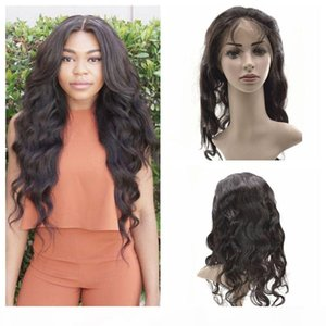 L 360 Lace Frontal Wig 22x4x2 Hairpieces Peruvian Virgin Hair Body Wave Lace Frontals G -Easy