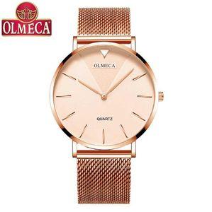 New Simples Moda Watch Mulheres Lady relógio de quartzo Ins Estilo ultrafinos inoxidável 30M aço WaterProof