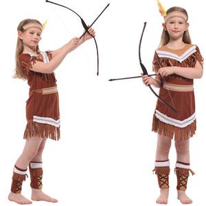 Neonate indiano cosplay della principessa Dress di Natale Halloween Cosplay Hunter Set costume Principessa della ragazza palco spettacolo per Carnival Party