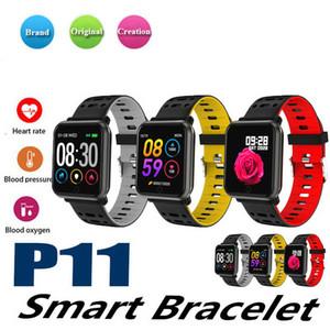 1 ADET P11 bluetooth smart watch EKG HRV EKG izleme renkli ekran tansiyon iphone android smartphone için spor bilezik