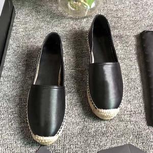 Femmes Casual Chaussures Chaussures Chaussures Vintage Plateforme Espadrilles Filles Véritable Cuir Véritable Fashion Fonction Plat Bas Shoe avec boîte Taille35-42
