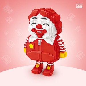 LOZ menina dos desenhos animados, McDon Boneca do palhaço de Building Blocks, Mini DIY Monte brinquedo educativo, Ornamento para Kid Xmas presente de aniversário, recolher 2-2