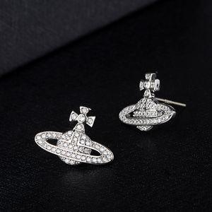 Mujeres pendientes del Rhinestone satélite de plata de Bling Bling Diseñador pendiente para el partido de regalo de la manera joyería y accesorios