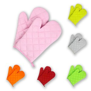 Kitchen Gloves Grill BBQ Baking Cooking Glove Oven Heat Resistant Gloves Oven Mitts High Quality WA1377