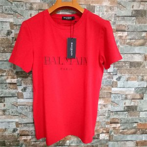 Bal Mens Designer T Shirt Nero Bianco Rosso Mens Fashion Designer T Shirt Estate Marca Top uomo e donna camicia di lusso S-XXL