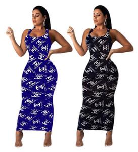 Vestidos largos maxi de la marca desngier para mujer vestidos de fiesta elegantes de verano sexy club hasta el tobillo sin mangas faldas largas vaina columna 1070