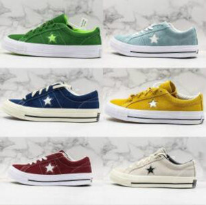 2019 autumn and winter new Converse One Star designer shoes suede canvas stitching men and women casual shoes Kimura one star series skate shoes