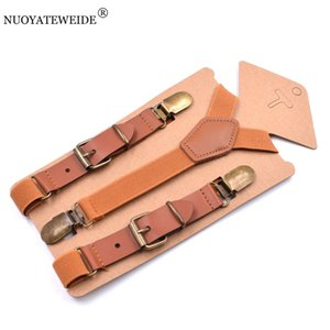 Mode Bébé Enfants Suspenders Braces Fort 3Clips Boy Pantalon Suspensorio élastique bretelles Taille du bracelet 2,5 * 75cm 10 couleurs