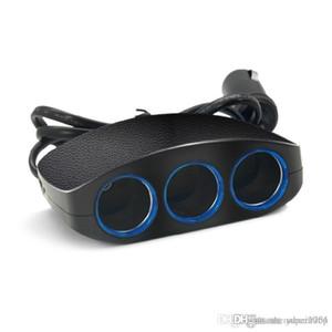 Neueste Drei in einem Auto-Ladegerät Doppel-USB-Port Dual-für iPhone Samsung-Telefon-Adapter 2 USB Einer Drag Drei Auto-Ladegerät mit Kleinpaket