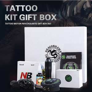 Professional Tattoo Kit Set Rotary Tattoo Machine Pen Power Ink Sets Needles Accessories Free shipping Hot