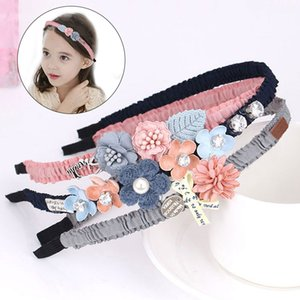 Girls Hair Accessories Flower Floral Bow Hairband Cute Hair Hoop Princess Headband Ribbon Covered Photography Style band