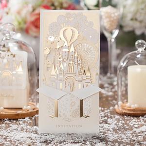 Convite de casamento de luxo Cartão do convite Felicidade Cerimônia Cartão Noivo e noiva Aplicar a Grand Eventos Celebração Com Envelope