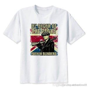 Yaz Tshirts Peaky Blinders Baskı Erkek Casual Giyim Homme Moda Kısa Kollu Tasarımcı Baskılı Mens Tops