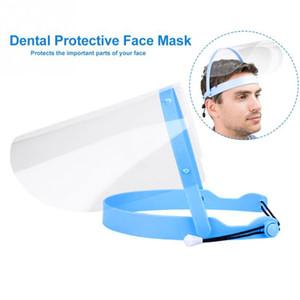 EU Stock Atacado Anti-splash face escudo à prova de poeira Head-montado máscara transparente Máscara Protect ajustável protectora protetora Máscara Facial