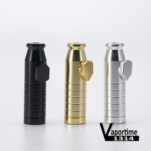 Snuff Bullet 2,3 pouces Finition Matt Contient 3g Snuff Bullet Pipe En Aluminium Métal Snuff Snorter Fumer Tuyaux Portable Cadeau Coloré 142