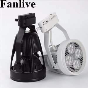 Fanlive 20pcs / lot LED Track Light 35W 40W Par30 Track Ligh Rail Lights Utilizzati per Abbigliamento Led Spot Light Rail Lamps AC 110-240V