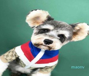 Automne épissage polaire veste chien vêtements chandail veste Couture Net rouge neige Na Ruibo nous fonds Teddy pet chat hoodies