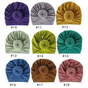 Primavera Autunno Donne Warm Donut Bow Beanie Twist sfera del nodo Turbanti Hat Cap indiana