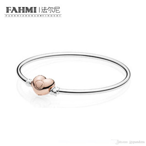FAHMI 100% стерлингового серебра 925 пробы 1: 1 Оригинальный 586668 браслет-оберег подлинный темперамент мода гламур ретро свадебные женские украшения