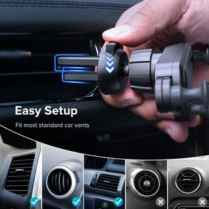 Gravity Car Holder For Phone in Car Air Vent Clip Mount No Magnetic Mobile Phone Holder GPS Stand For iPhone 11 Pro Samsung