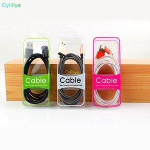 Nuovo micro USB universale tipo C che carica i cavi dati vendita al dettaglio di imballaggi in PVC in plastica scatola blister nuovi accessori per telefoni cellulari all'ingrosso