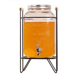 Al por mayor de bebidas tarro Mason de vidrio con grifo dispensador
