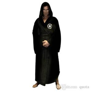 Stelle flanella Robe Maschio Con spesso incappucciato Guerre Cosplay Dressing Impero Mens accappatoio inverno lungo Robe Mens Accappatoio Sleepwear