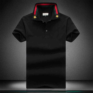 2020 men's luxury polo shirt brand summer hip-hop V-neck bee embroidery classic style cotton men's polo shirt