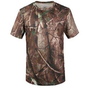 Летняя футболка Quick Dry Камуфляж O образным вырезом с коротким рукавом майка мужчин вскользь на открытом воздухе Tactical Combat Тенниски Военные Tops