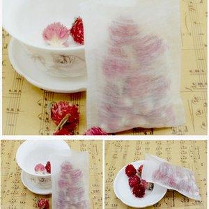 8*10cm Corn Fiber Folding Empty Tea Bag PLA Biodegraded Teabag Filters Disposable Herbal Tea Bags ZA5497