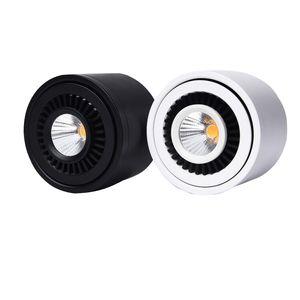Накладные светодиодные COB вниз свет 360 градусов вращающийся светодиодный прожектор 3W 7W 10W 18W Потолочный светильник с LED Driver