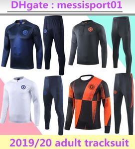 2019/20 Chelsea di calcio tuta kit abito giacca senza maniche di calcio 2019 giacche 20 Club vestiti allenamento di calcio cerniera ful set