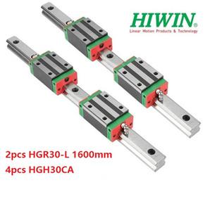2 adet Orijinal Yeni HIWIN HGR30-1600mm doğrusal kılavuz / ray + 4 adet HGH30CA cnc router parçaları için doğrusal dar bloklar