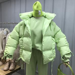 [EWQ] 2020 New Spring manica lunga elegante Spesso parka della Corea di stile si slaccia più donne in cotone imbottito cappotti 4 colori QZ168
