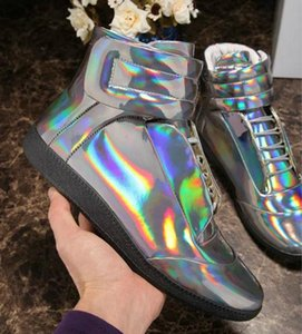 New Designer Double Box High Quality Man Name Brand High Top Hook&Loop Mixed Colors Flat Cheap Sneaker Outdoors Shoes 13