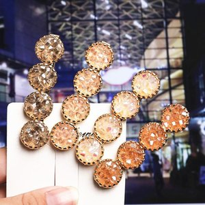 4 Colors 2020 Charm crystal Hair Clip Boutique Barrette Hairpin Women Girl Fashion Jewelry Hair Accessories Wedding Party Gift