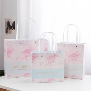 Gift Bag Marmo Modello di carta del sacchetto di mano Matrimonio regalo di compleanno del partito di carta Tote può essere personalizzato