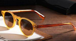 2020 Gregory Peck Marke Designer 45mm 47mm Männer Frauen Sonnenbrille oliver Weinlese polarisierte Sonnenbrille Völker OV5186 retro Sonnenbrille OV