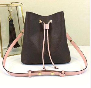 Sac de godet en cuir véritable de mode Femmes design célèbre designer Cordage sac à main de fleurs Porte-monnaie Messenger Sac à main