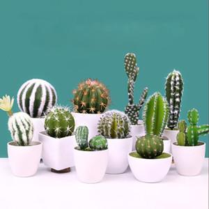 22 stilleri Yapay Succulents Bitki Bahçe Minyatür Sahte Cactus DIY Ev Çiçek Dekorasyon Düğün Ofisi Bahçe