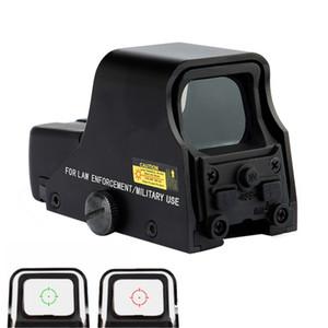 Punto de la vista Negro táctico holográfica Reflex Rojo Verde punto de la vista caza al aire libre la vista del alcance ajustable del brillo.