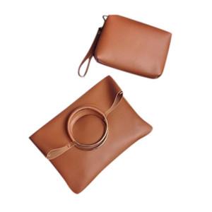 Mulheres 2019 Trendy Bag Anel 2PC Shoulder Bag Simples de Pacotes Folding Clutch Diagonal Pacote europeu e americano 1217