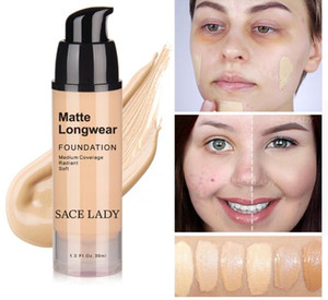 Макияж 30ml Foundation Face Professional Base Make Up For Dark Skin Матовый крем Control Oil Liquid Natural Cosmetic