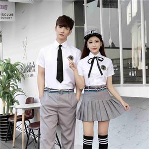 شحن مجاني جديد الزي المدرسي الملابس الداخلية مثير تأثيري للرجال والنساء طلاب المدارس الثانوية JK موحدة كلية الياباني الرياح قصير الأكمام